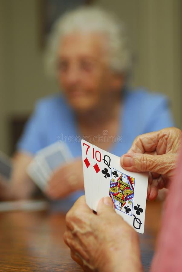 Seniors gambling stock photo