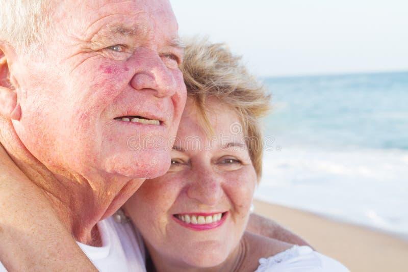 Seniors love. Closeup of happy seniors in love stock photography
