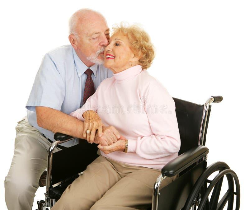Seniors - Loving Gesture stock image