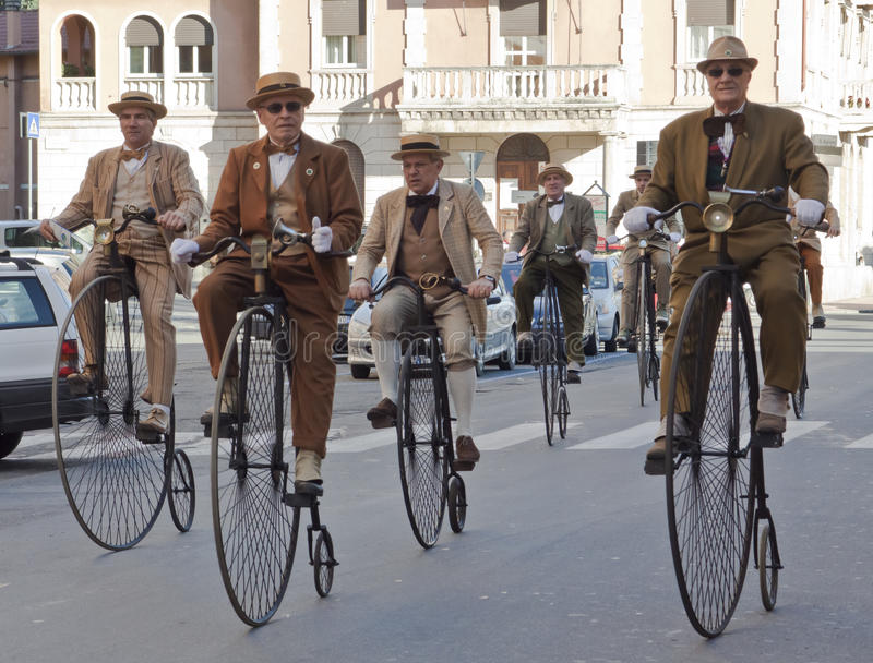Seniors old cycles,cycling through history event stock photos