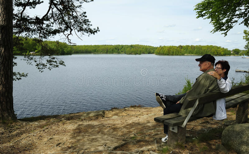 Download Seniors Resting Place Stock Image - Image: 19525161