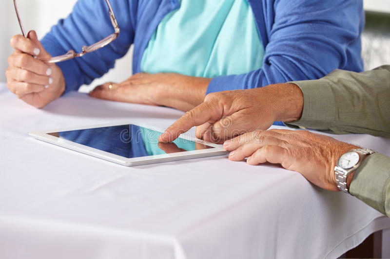 Download Seniors With Tablet Computer Stock Image - Image of show, caucasian: 29057303