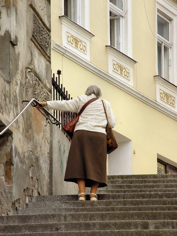 Seniors walking royalty free stock images