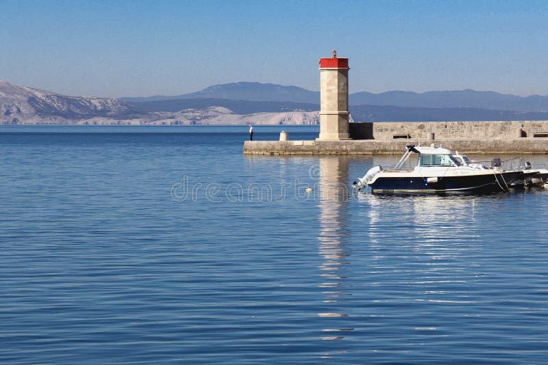 Senj - ottobre 15,2017: Città di visualizzazione del paesaggio di Senj a porta in Croazia fotografia stock