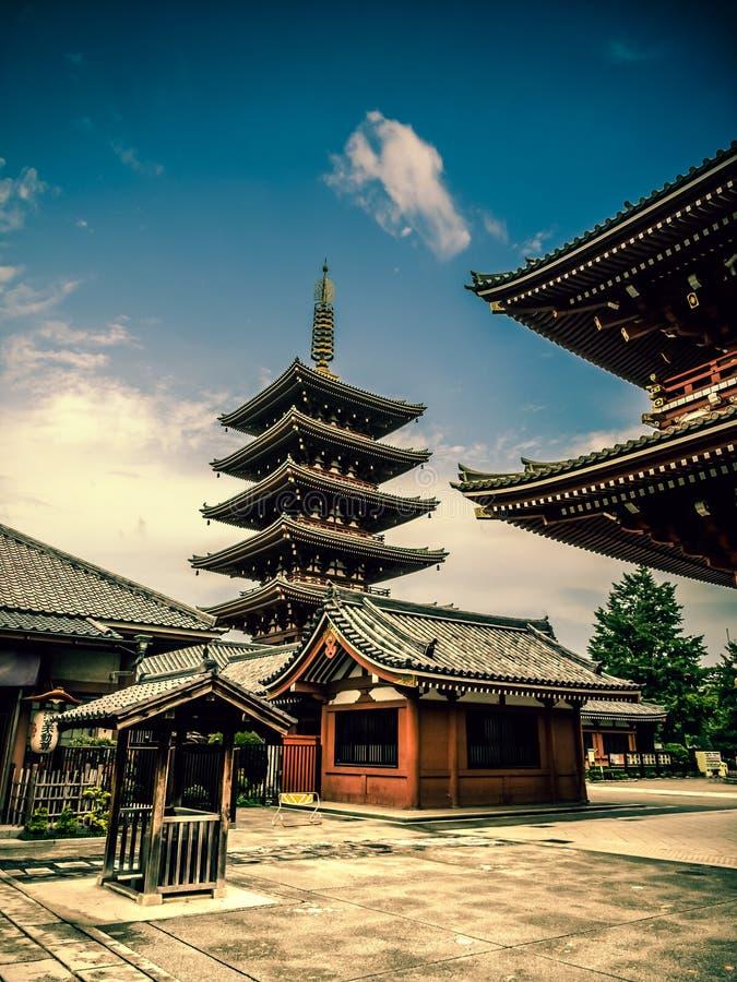 Senjoji Temple at Asakusa, Tokyo Japan royalty free stock photo