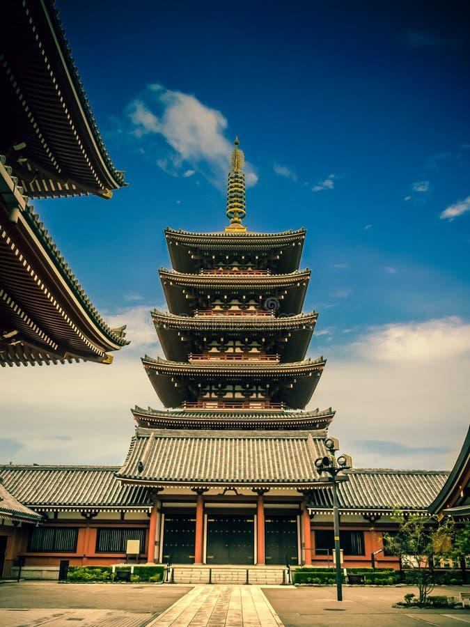 Senjoji Temple at Asakusa, Tokyo Japan royalty free stock photography