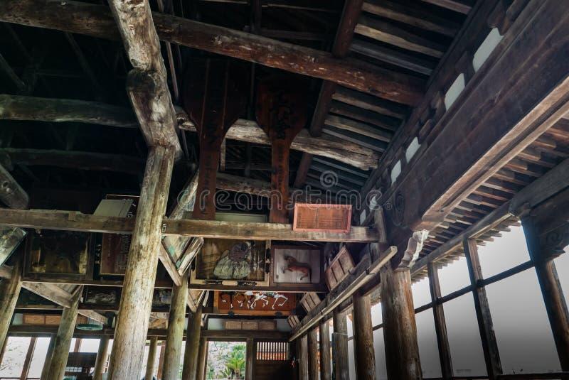 Senjokaku (Toyokuni Shrine) on Miyajima Island. Miyajima, Japan - May 6, 2016: Interior of Senjokaku (Toyokuni Shrine) on Miyajima Island. Miyajima island is a stock photography
