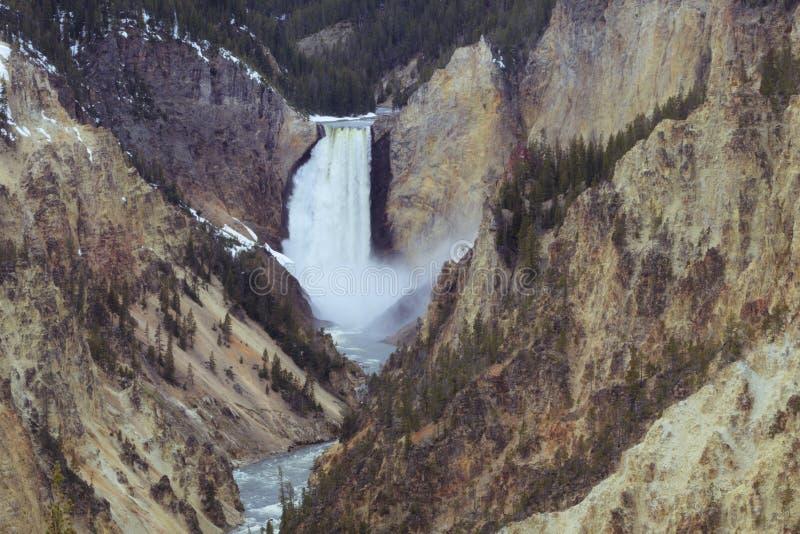 Senken Sie Fälle Grand Canyon von Yellowstone-Park lizenzfreie stockbilder