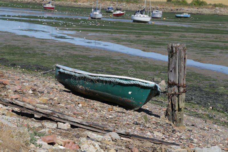 Senken Sie Halstow-Strand in Kent lizenzfreies stockbild