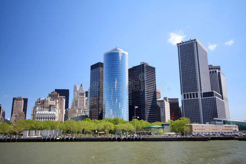 Senken Sie Manhattan lizenzfreie stockfotografie