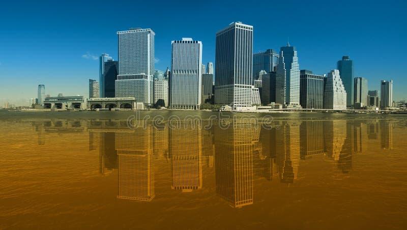Senken Sie Manhattan stockbilder
