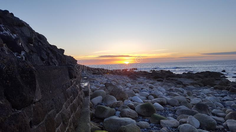 Sennen Sunset stock image