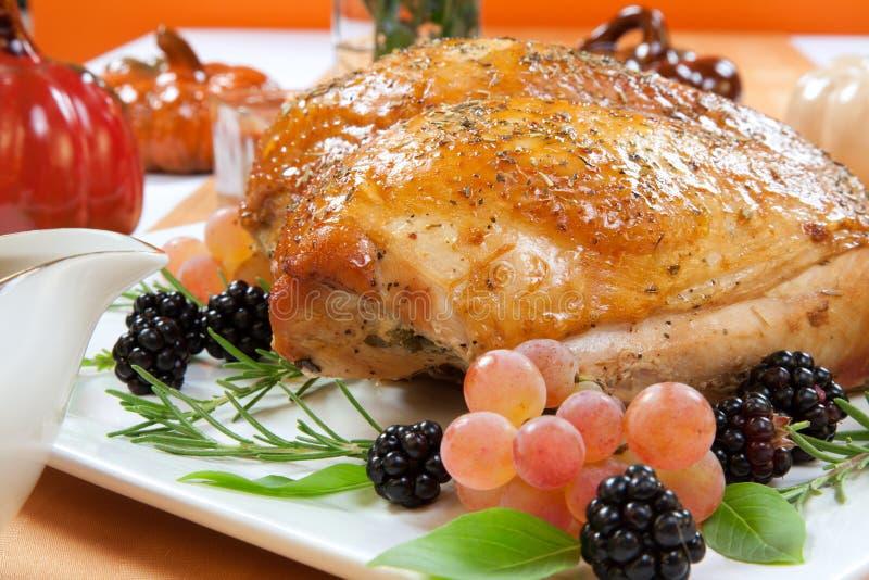 Seno di Turchia arrostito - Rosemary-Basil Rub fotografia stock