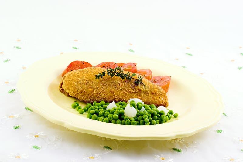 Seno e verdure di pollo fotografia stock