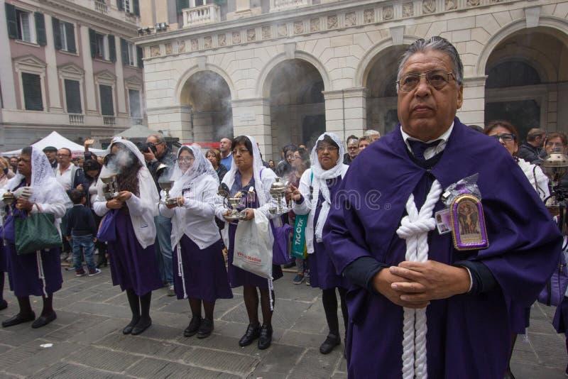 Senor de los Milagros à Gênes images libres de droits