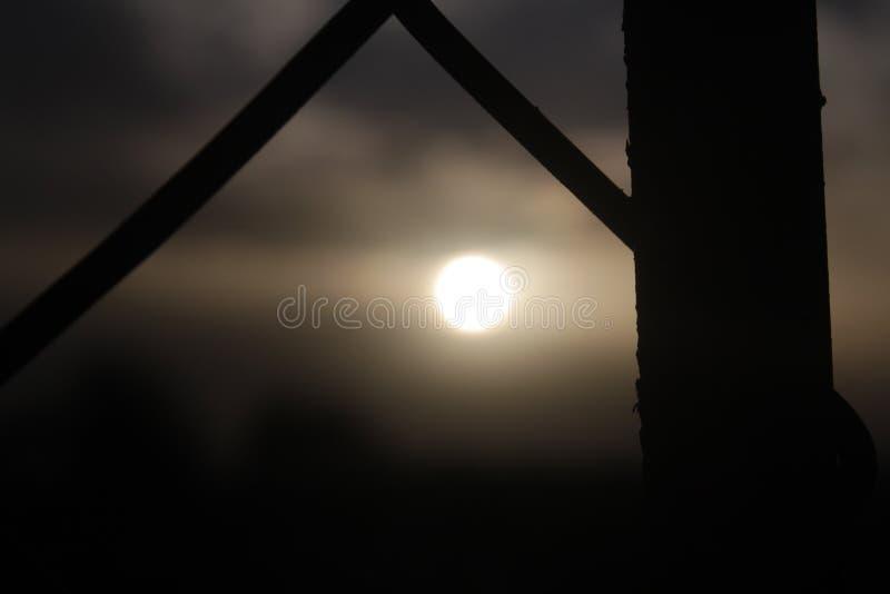 Sensação da paisagem de Sun fotografia de stock royalty free