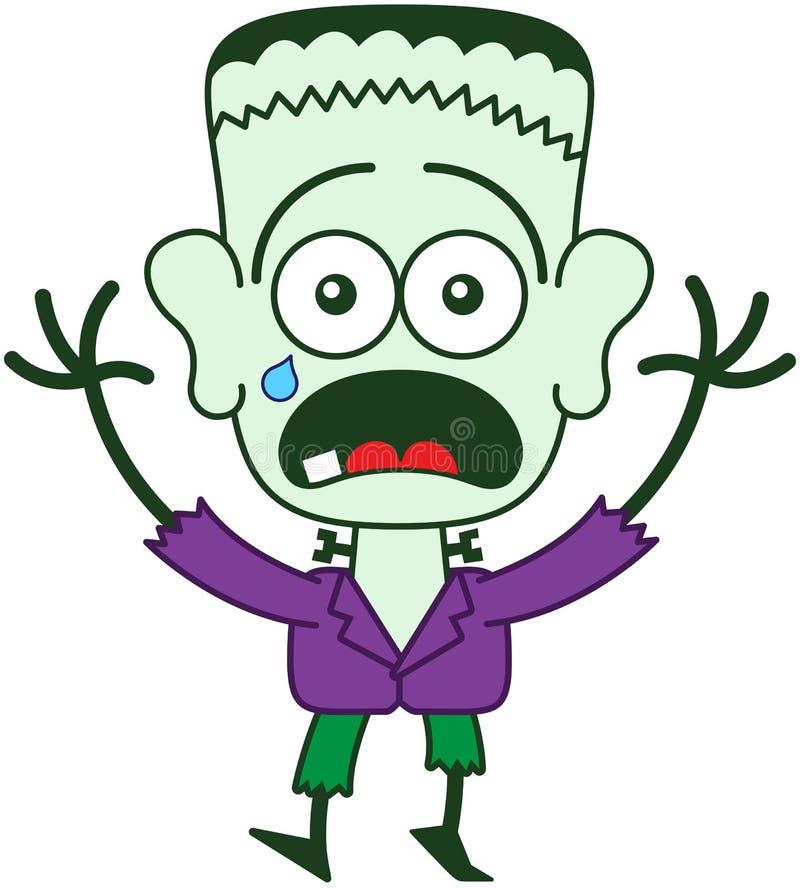 Sensación de Halloween Frankenstein asustada ilustración del vector