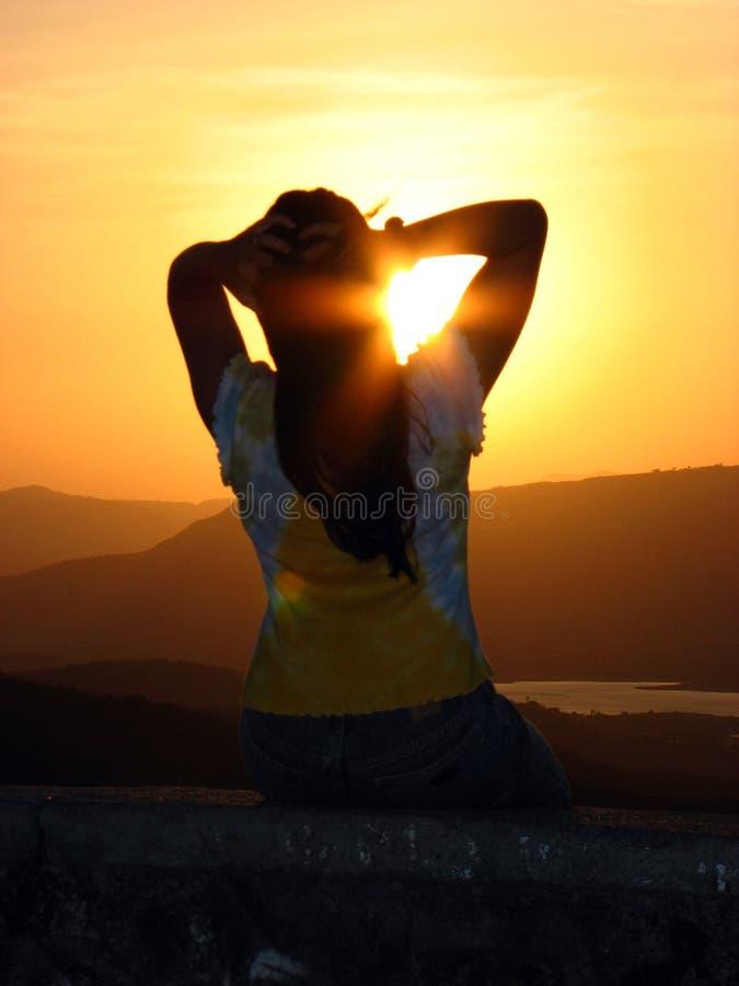 Sensación de la puesta del sol fotografía de archivo