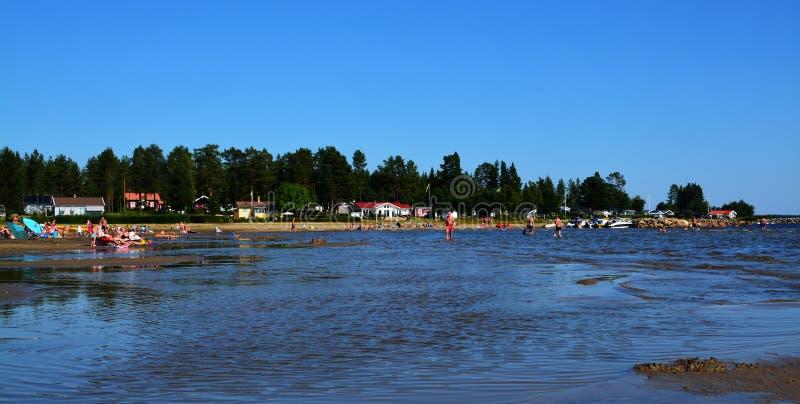 Sensaciones del verano en una playa sueca imagen de archivo libre de regalías