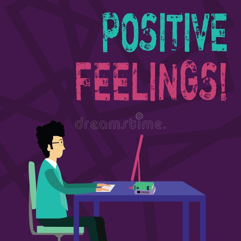 Sensaciones positivas del texto de la escritura Concepto que significa cualquier sensación donde hay una falta de negatividad o d ilustración del vector