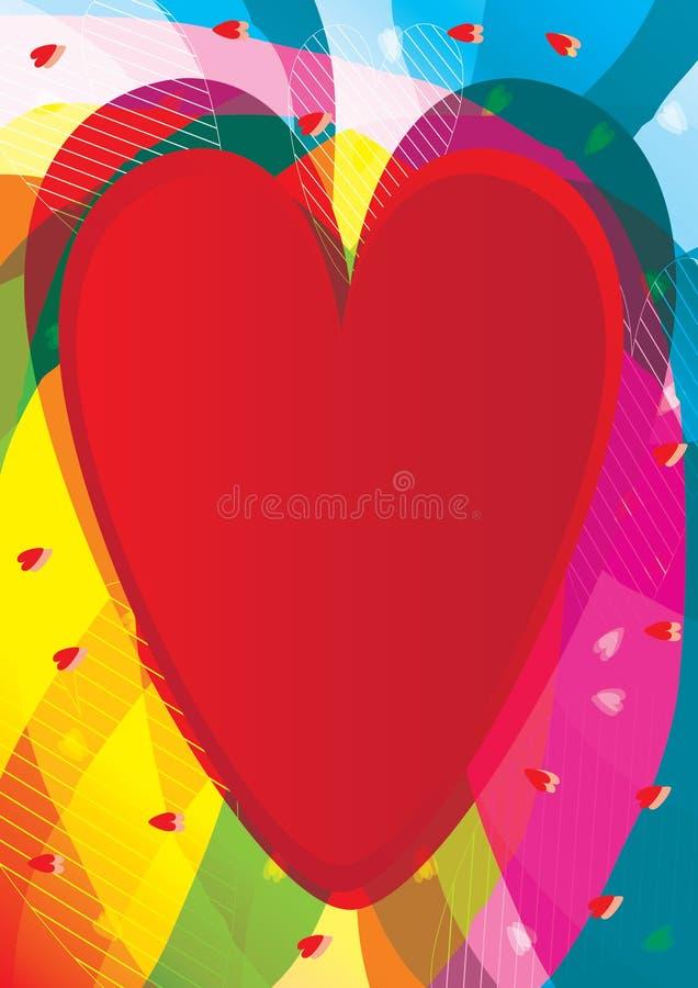 Sensation abstraite d'amour illustration libre de droits