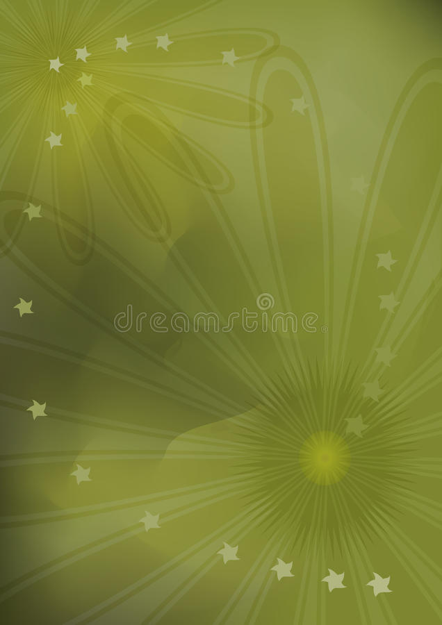 Sensation abstraite de brouillard de fleur illustration stock