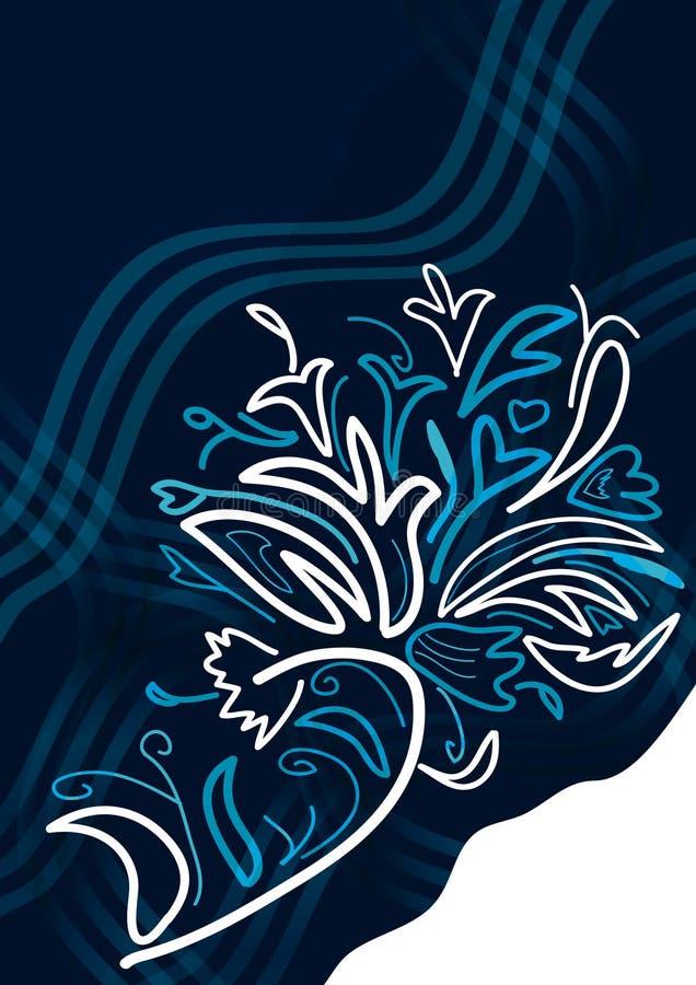 Sensation classique de fleur abstraite illustration stock