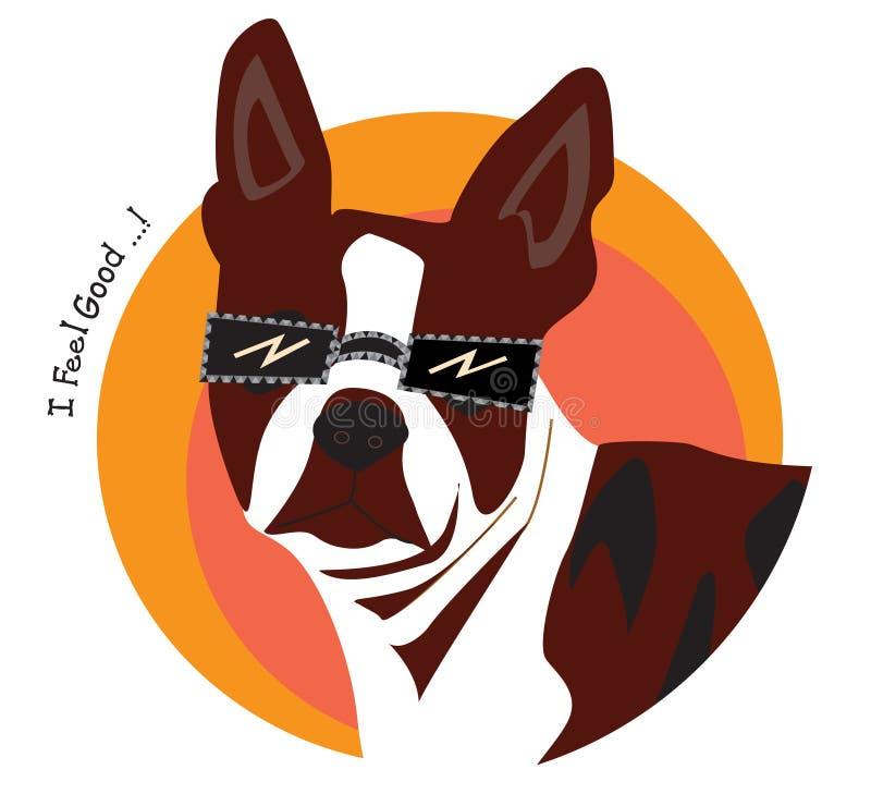 Sensation de chien bonne. illustration libre de droits