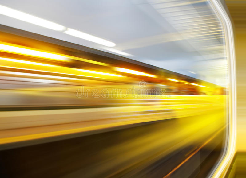 Sensation of speed. Background of the high-speed train with motion blur outdoor stock photos