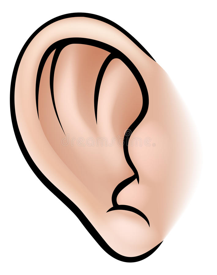 Ear Body Part royalty free illustration