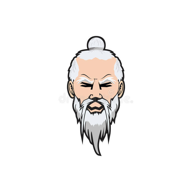 Sensei-Charakter-Logodesign lizenzfreie stockfotografie