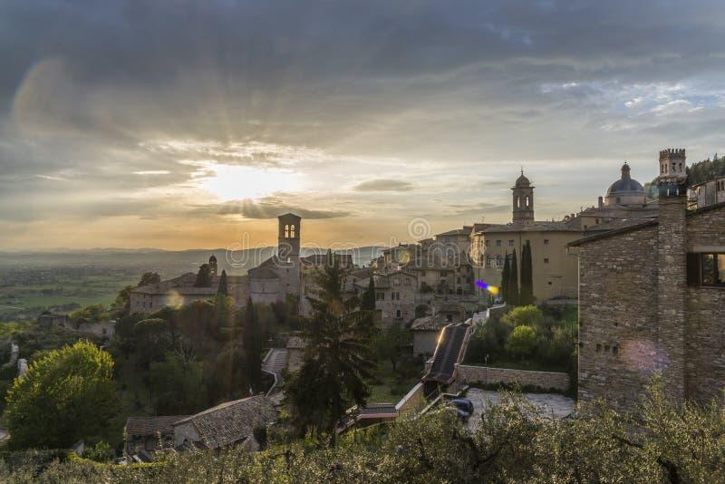 Senset in Assisi royalty-vrije stock foto