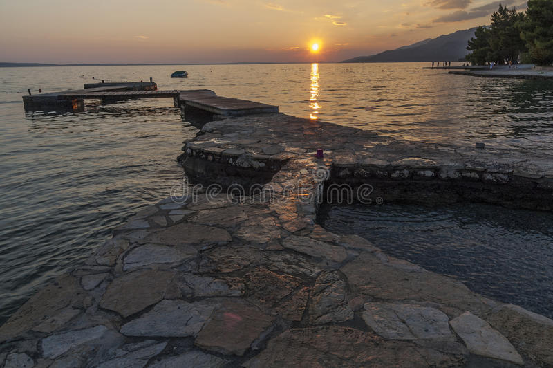 Senset in Kroatië royalty-vrije stock fotografie