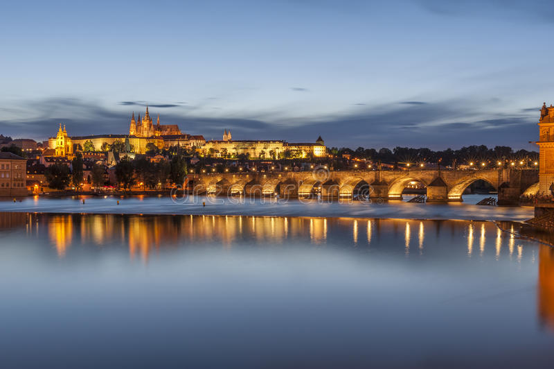Senset in Praag royalty-vrije stock foto's