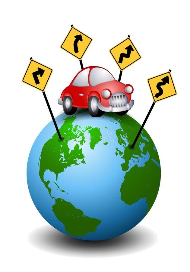 Sensi di corsa di viaggio stradale illustrazione vettoriale