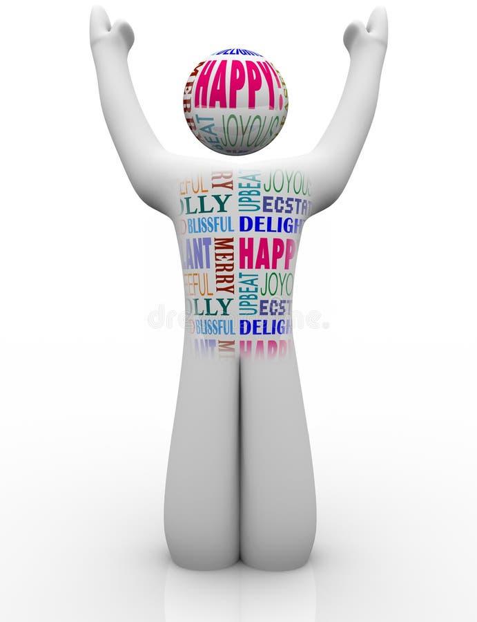 Sensibilità felici di Person Emtions Showing Joy Good illustrazione vettoriale