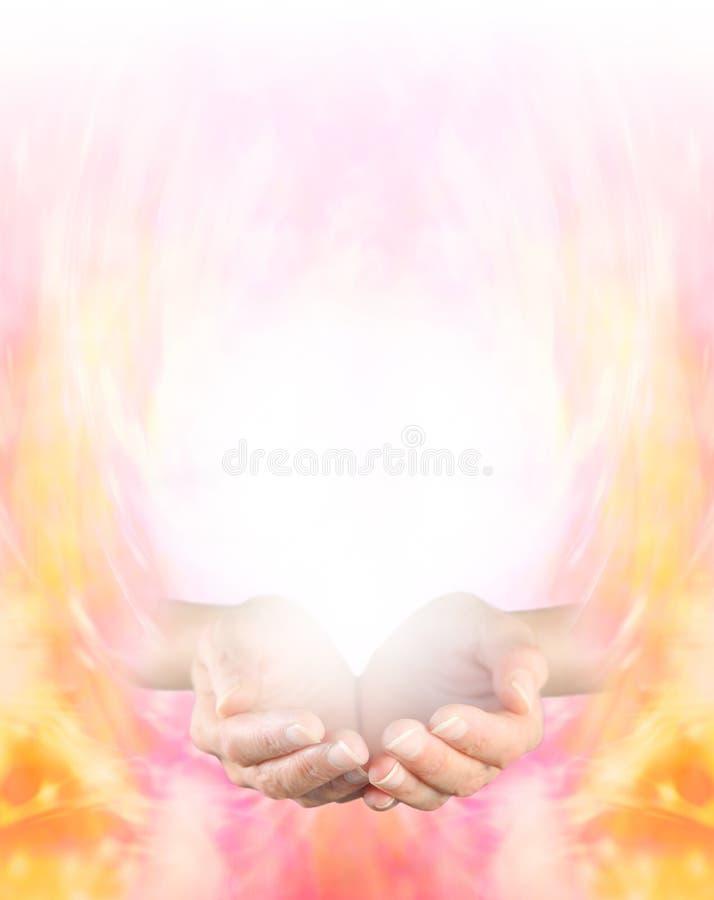 Sensing Golden Healing Energy royalty free stock photography