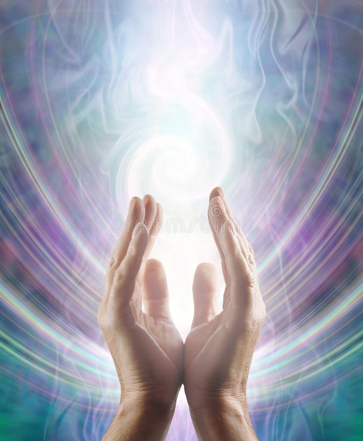 Sensing Spiralling Healing Energy Field royalty free stock images