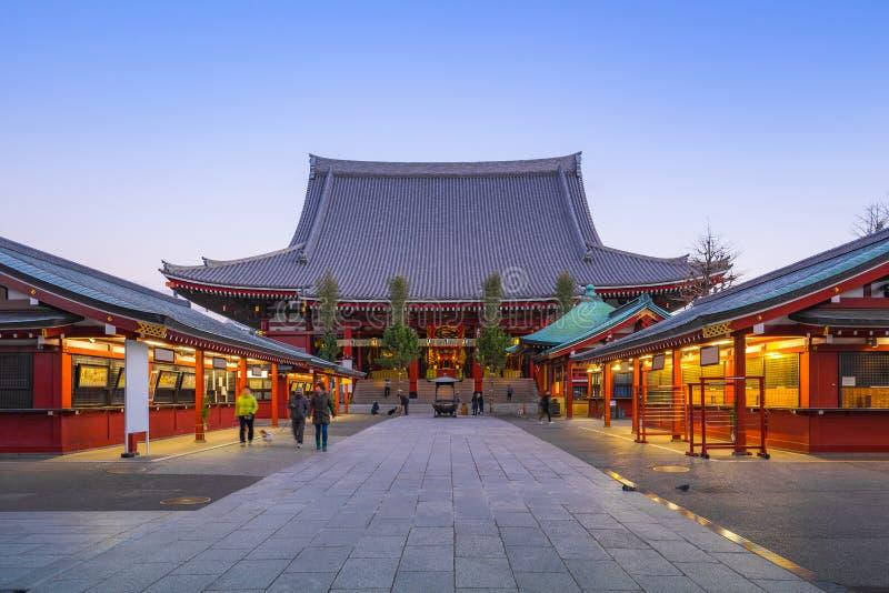 Senso籍东京市寺庙地标在日本 免版税图库摄影