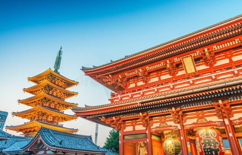 Senso籍寺庙在东京,日本 库存照片