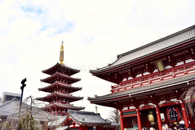 Senso籍寺庙在日本东京 免版税库存图片
