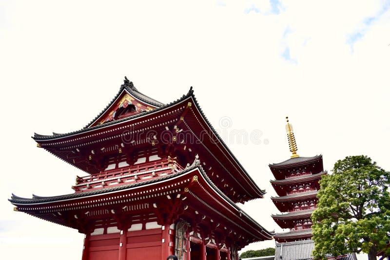 Senso籍寺庙在日本东京 免版税图库摄影