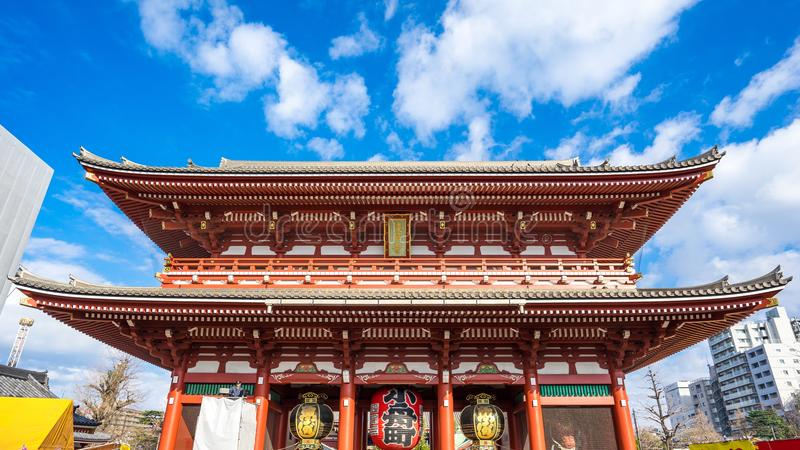 Senso籍寺庙在浅草在东京,日本 免版税库存图片