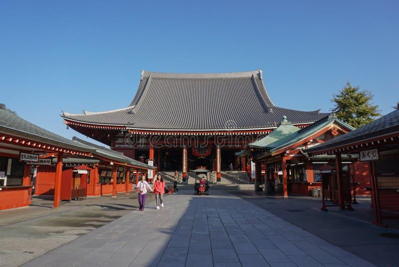 Senso籍寺庙在浅草是最著名的寺庙在东京,日本 库存照片