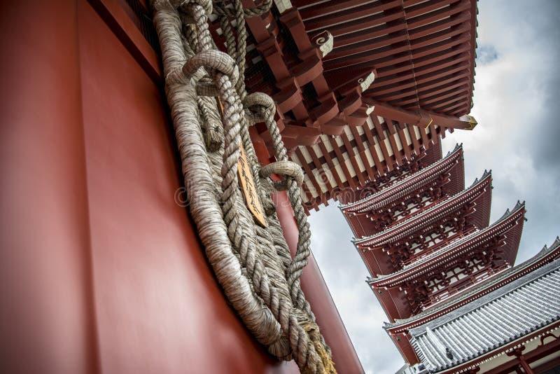 Senso籍寺庙在浅草,东京,日本 库存图片