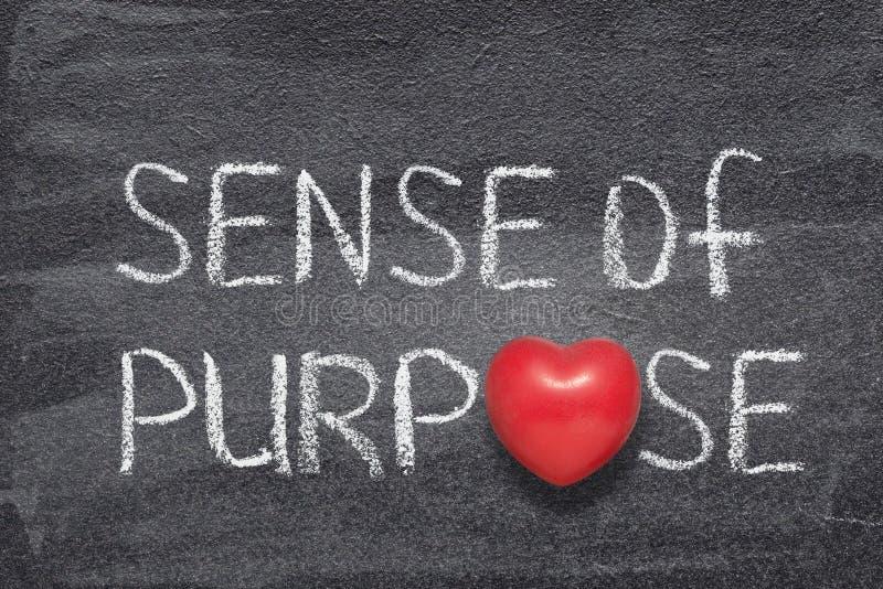Senso del cuore di scopo immagini stock