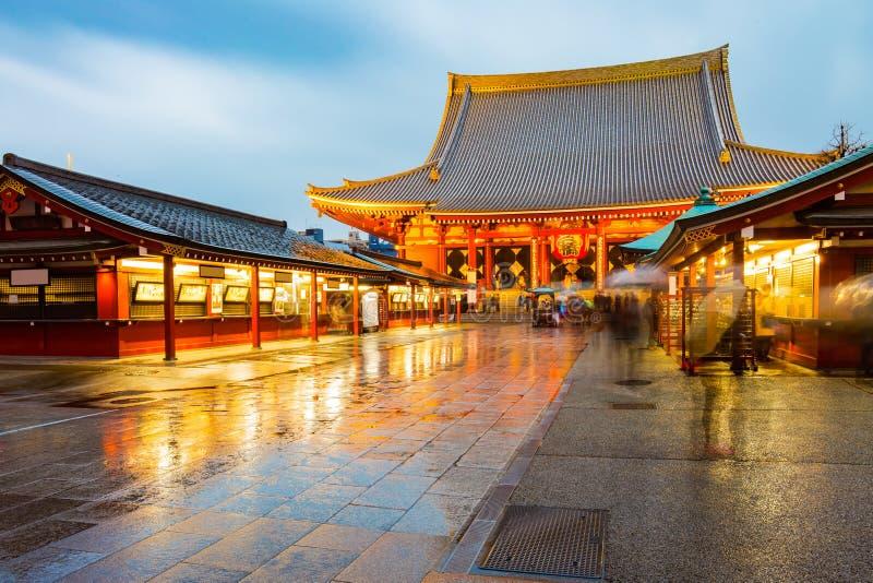 Senso-ji świątynia przy Asakusa terenem w Tokio, Japonia obraz stock