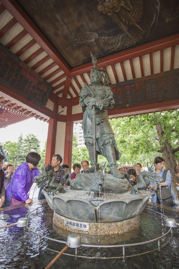 Senso-ji świątynia w Asakusa, Tokio, Japonia Słowo znaczy Kob obrazy stock