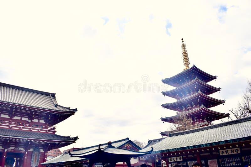 Senso-ji świątynia w Japonia Tokio obraz stock