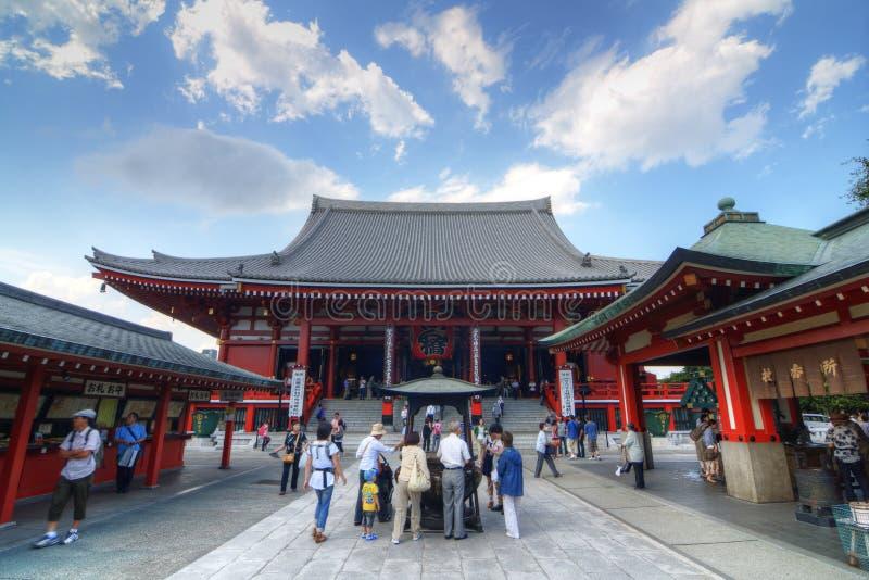 Senso-ji Tempel in Tokyo stockfotografie